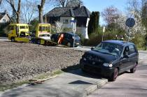 Lichtgewonde bij ongeval tussen twee auto's