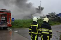 Hennepkwekerij aangetroffen bij brand in loods Leeuwarderstraatweg