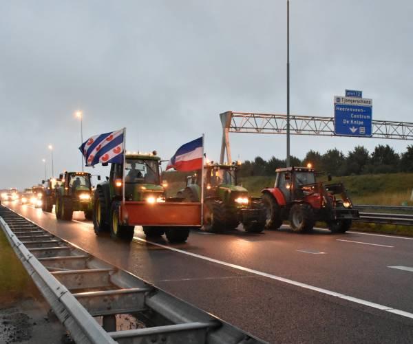 Tot en met maandag geen acties van boeren in Friesland