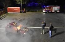 Opnames Omrop Fryslân HEA! bij de brandweer in Heerenveen