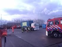 Vrachtwagenbrand bij milieustraat Omrin valt mee