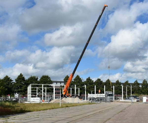 Bouw tweede turnhal bij Sportstad Heerenveen vordert