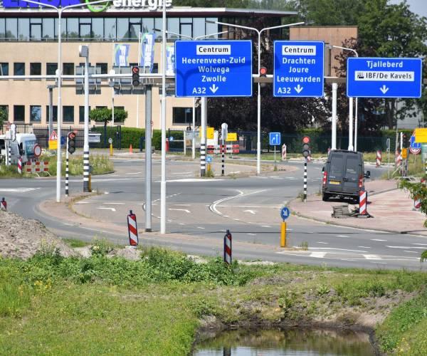 Deze zomer zes weken lang omleidingen Heerenveen-Centrum