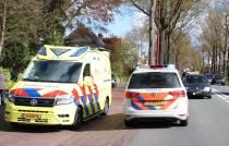 Auto's botsen op de Burgemeester Falkenaweg