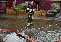 Brandweer Heerenveen de gehele dag druk met bestrijding wateroverlast