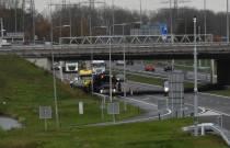 Eenzijdig ongeval Knooppunt Heerenveen, auto komt op vangrail tot stilstand