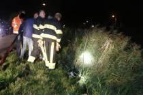 Brandweer en buurtbewoners halen drie pinken uit vaart in De Knipe