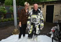 Laatste uitruk voor brandweerman Roel de Vries uit Tjalleberd