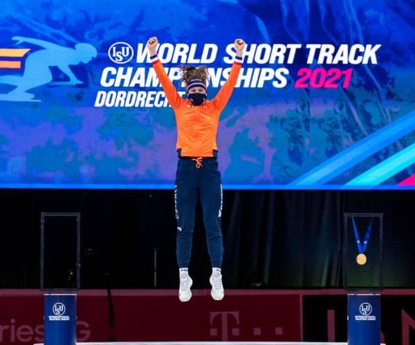 Suzanne Schulting pakt twee wereldtitels op één dag