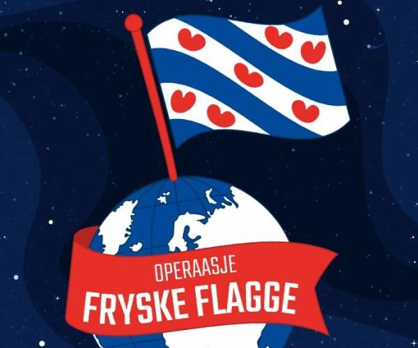 Al 150 Friese vlaggen in 34 landen voor 'Operaasje Fryske Flagge'