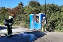 Hokje in brand aan de Sportweg in Heerenveen