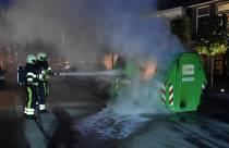 Container in brand aan de Gedempte Molenwijk