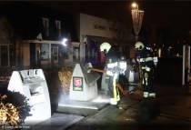 Textielcontainer in brand aan het Molenplein