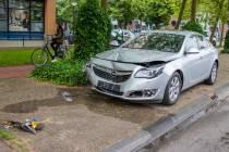 Automobilist gewond bij eenzijdig ongeval