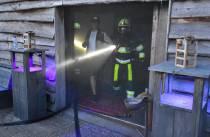 Brandweer oefent twee maal in de Musyk Fabryk