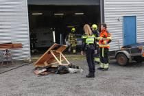 Brandweer is brand bij houthandel in Gorredijk snel meester