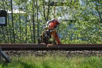 Werkzaamheden aan het spoor in Heerenveen