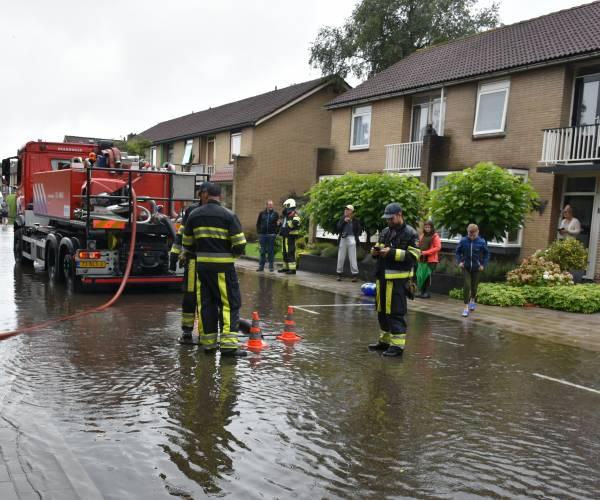 Forse wateroverlast in Heerenveen
