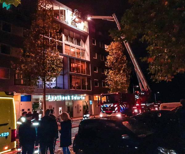 Evacuatie aan de Veldschans door lekkende flessen gootsteenontstopper