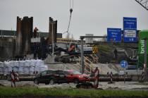 Aannemer BAM Infra gestart met verleggen afrit Heerenveen centrum