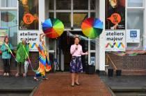 Wethouder Hedwich Rinkes opent het vernieuwde Cultuurplein(festival)