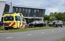 Gewonde bij frontale aanrijding op de Wetterwille in Heerenveen