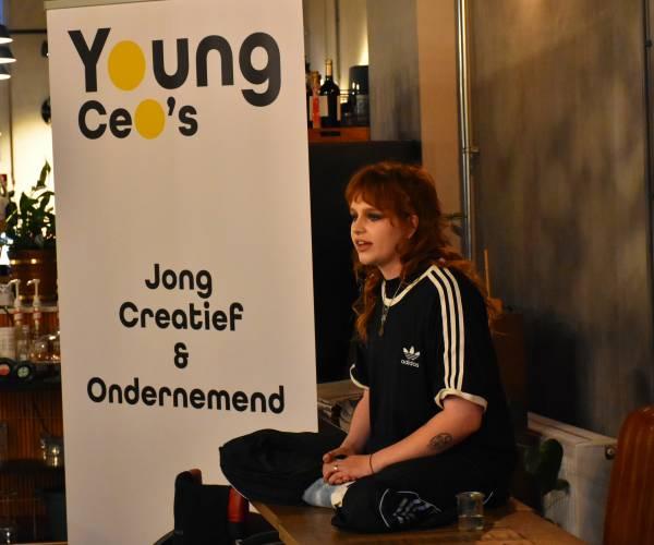 Topsporter en model Elke Lale van Achterberg te gast bij Young CeO's